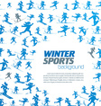 winter extreme sport pattern with place for your vector image