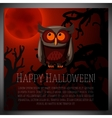 Big halloween banner with of brown vector image