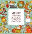 christmas background pictures vector image