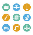 white background with color set of plumbing icons vector image