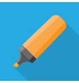 The Marker icon Flat vector image