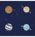 Abstract Cartoon planets vector image vector image