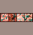 abstract creative seamless patterns with tropical vector image vector image