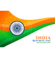 abstract indian republic day wavy flag design vector image vector image