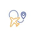airplane line icon plane flight transport sign vector image