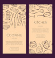 banners with hand drawn vector image vector image