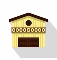 Barn for animals icon flat style vector image vector image