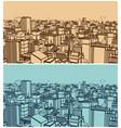 big city sketch vector image vector image