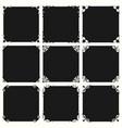 black frame backgrounds vector image