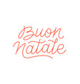 buon natale calligraphic line art typography vector image vector image