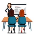 business training design vector image
