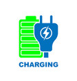 charge battery flat pictograph flat icon vector image