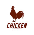chicken logo icon logo chicken bird icon symbol vector image