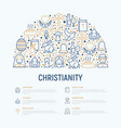 christianity concept in half circle vector image vector image
