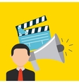 cinema concept design vector image