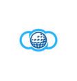 cloud golf logo icon design vector image vector image