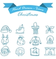 Collection of Christmas icon set vector image vector image