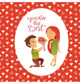 Couple in love 24 vector image vector image