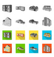 design of facade and housing sign vector image vector image