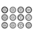 different round labels vector image