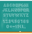 Drawing alphabet lettering on chalk blackboard vector image vector image