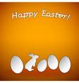 easter background orange vector image vector image