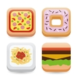 food application icons vector image vector image