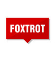 foxtrot red tag vector image vector image
