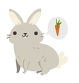 Funny cartoon rabbit mascot vector image vector image