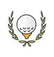 golf championship color icon vector image