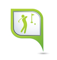golf icon green map pointer vector image