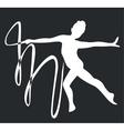 gymnast silhouette black 03 vector image vector image