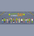happy st patricks day background with people vector image