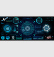 head-up interface set for gui ui ux design hud vector image