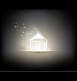 Illuminated Home vector image vector image
