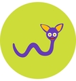 isolated cute cartoon alien monster on a blue vector image vector image