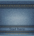 jeans background vector image vector image