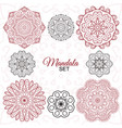 mandala set round decorative ornaments for vector image
