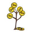 money plant symbol vector image vector image