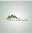 mountain logo ideas design vector image vector image