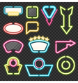 Neon Sign Set vector image