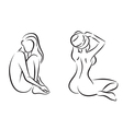 Nudes women in spa vector image vector image