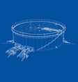 oil storage tank vector image