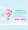 online booking website hot air balloon vector image vector image
