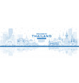 outline welcome to thailand city skyline with vector image vector image