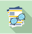 paycheck paper icon flat style vector image