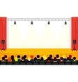 People sitting at the conference in flat style vector image