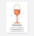 poster for wine tasting events with design text vector image vector image