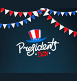 presidents day greeting card logo vector image