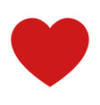 red heart or romantic love symbol icon vector image vector image
